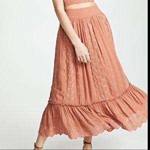 NEW Free People Ella Skirt Light Orange L